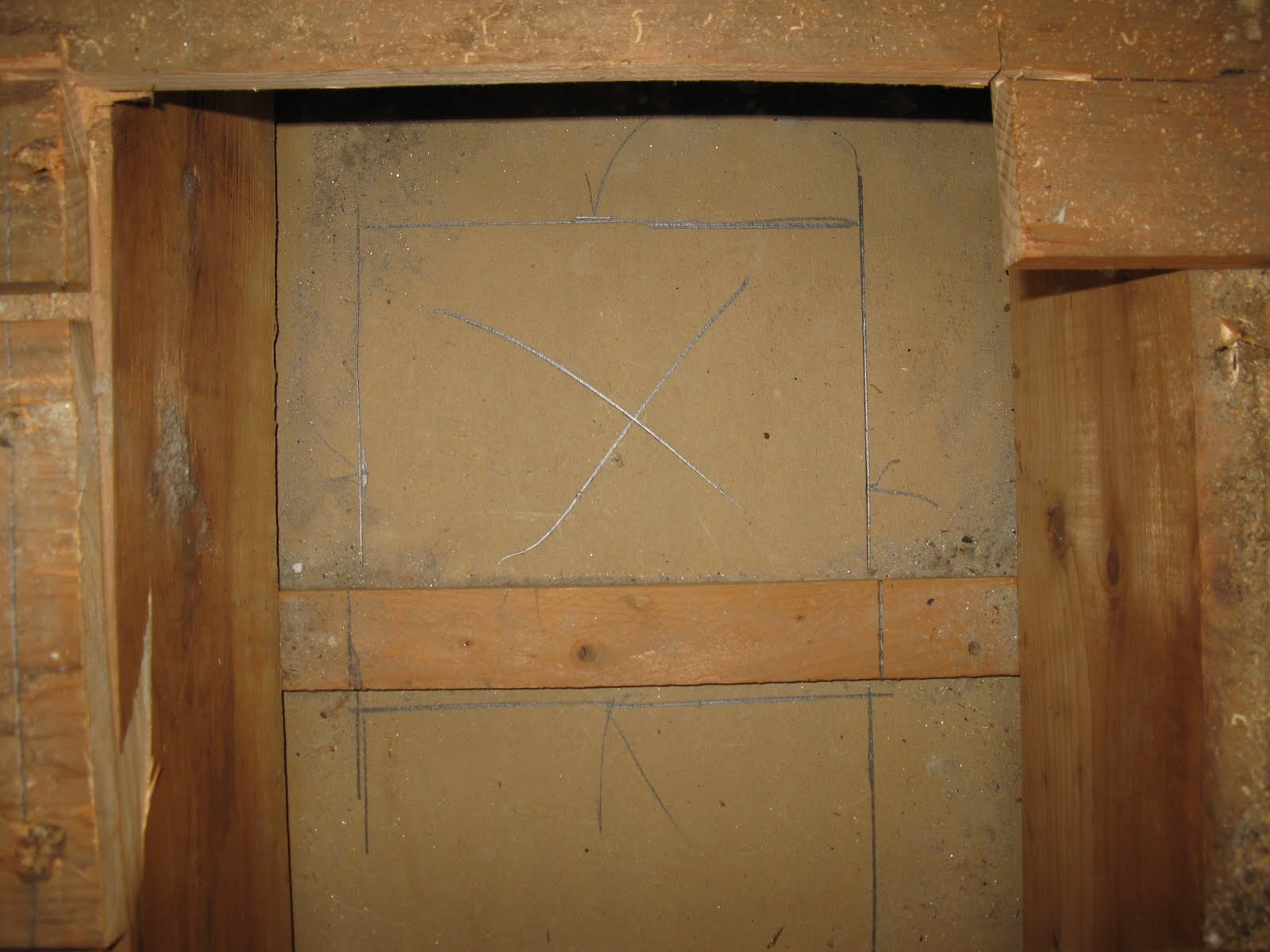 How to cut base molding around wall vent - New Hole Cut Blocking Was Added And Vent Box Was Squared And Screwed To The Blocking
