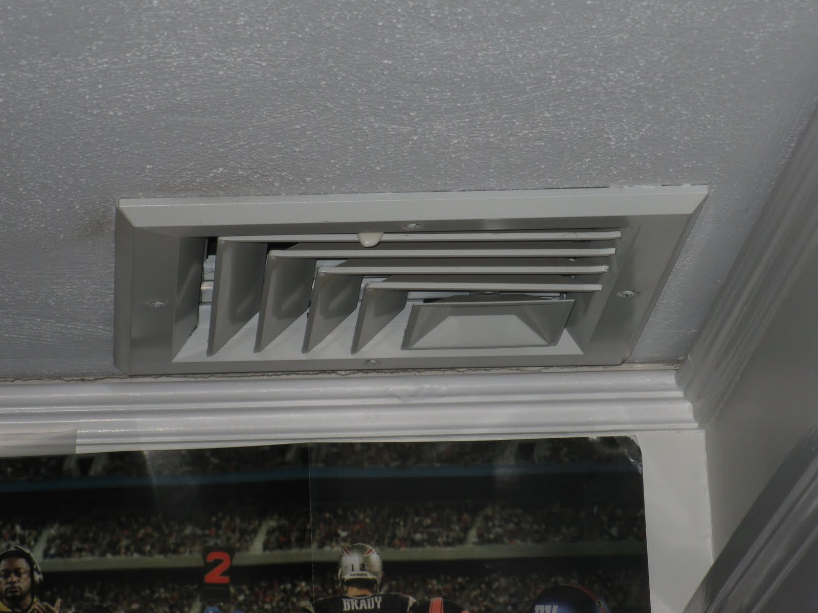How to cut base molding around wall vent - The Vent One Below Is Located In The Middle Of The Room If You Click On The Picture It Will Enlarge The View The 3 Crown Molding The Owner Chose Will Not