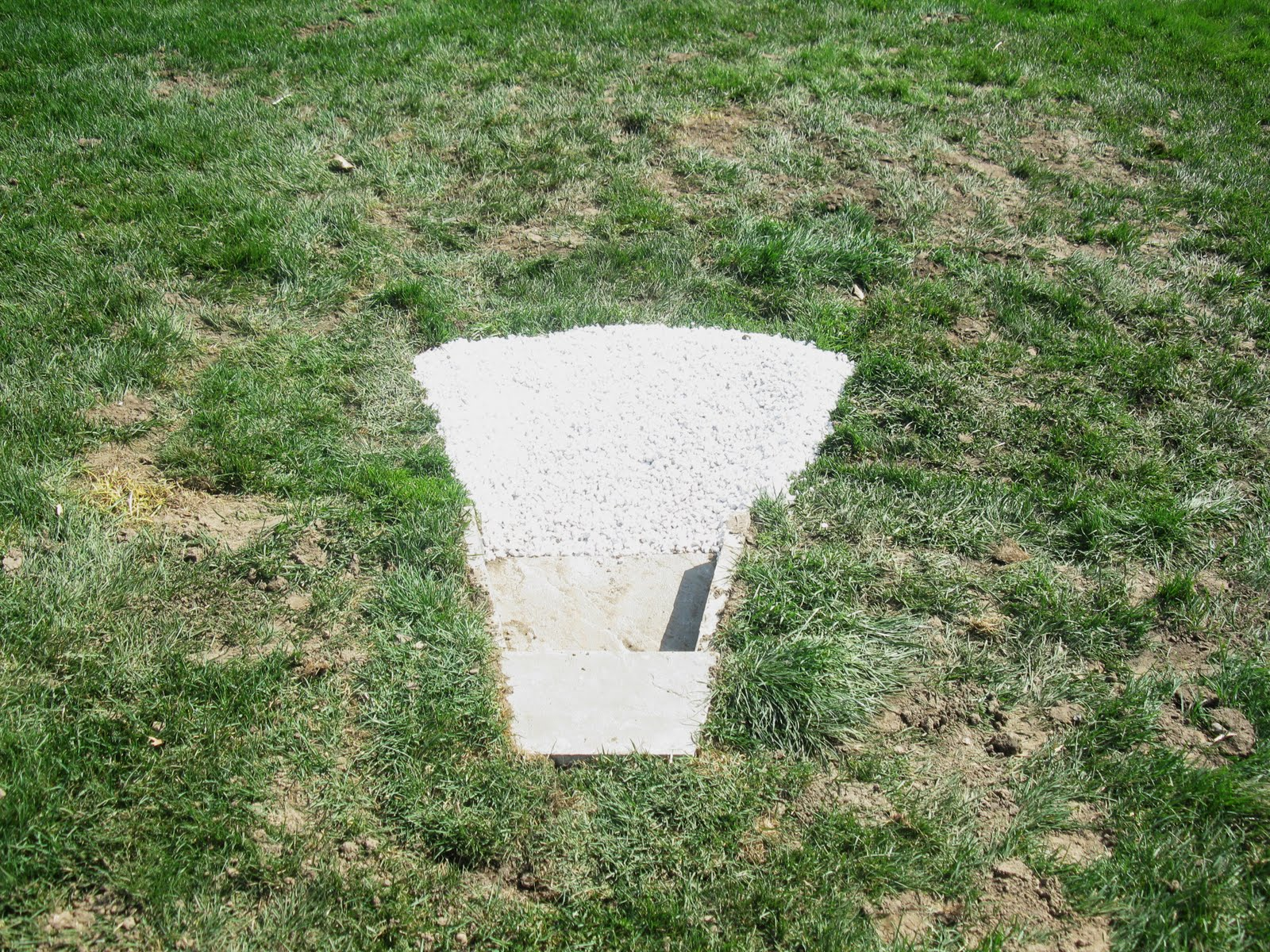 Tractor Water Drain : French drain pipe problem crushed outlet perfect
