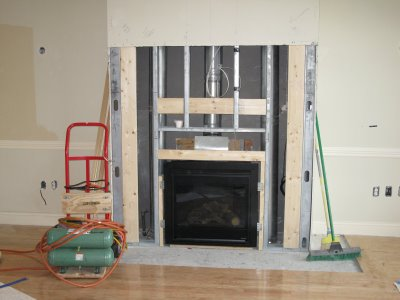 Installing Fireplace Mantle