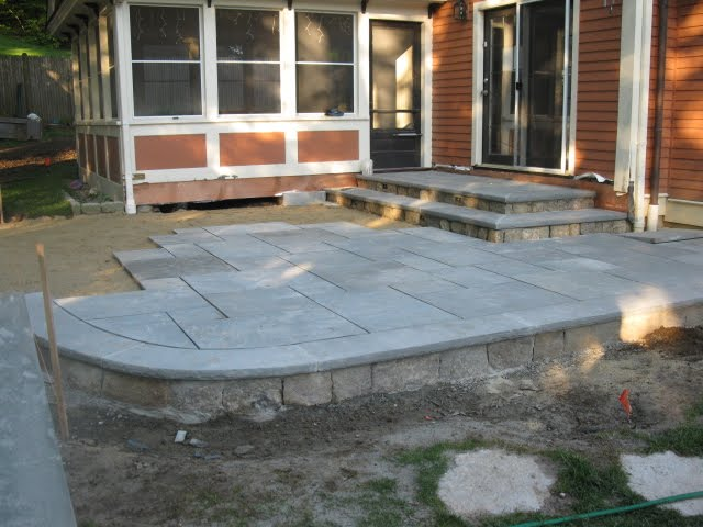 Filling In The Field. Patio Pavers ...