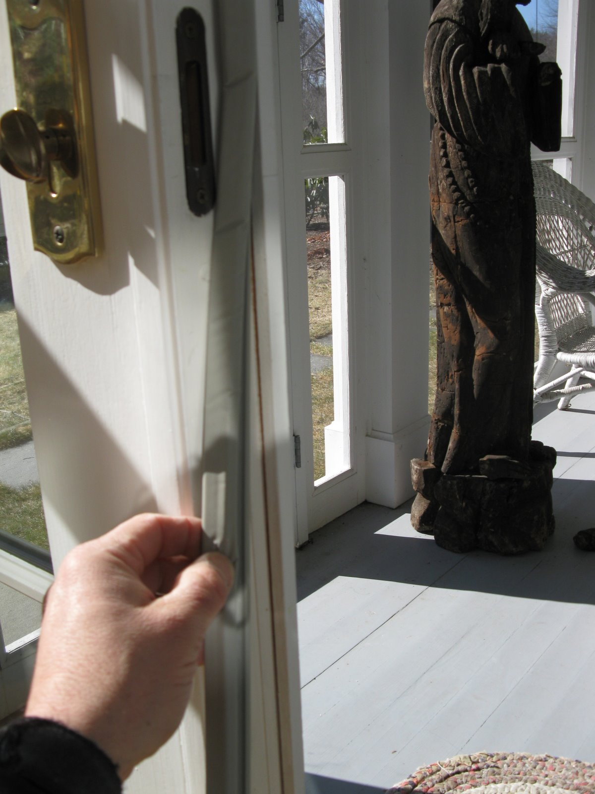Replacing weatherstripping a concord carpenter - Exterior door threshold weather stripping ...