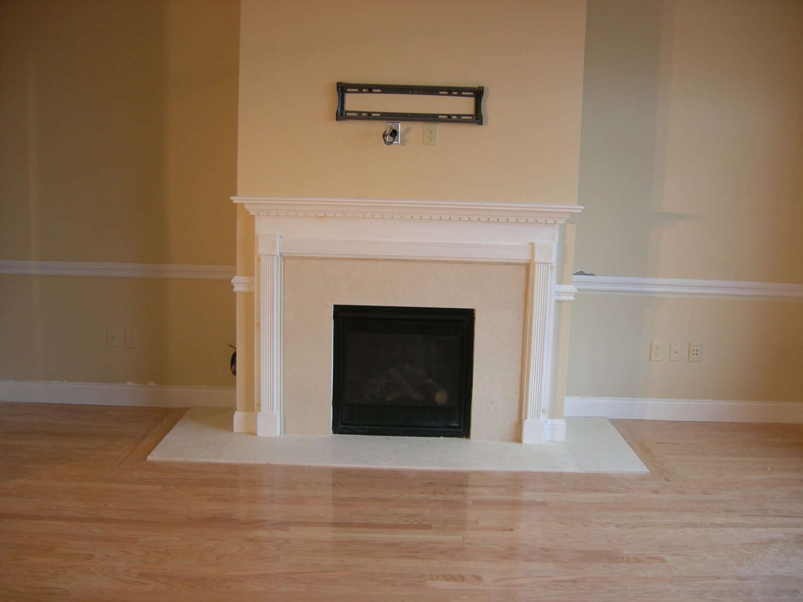 installing a new fireplace mantel a concord carpenter