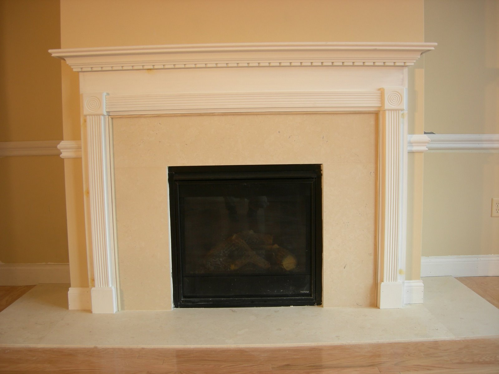 Installing A New Fireplace Mantel I Gas Fireplace insert and mantel