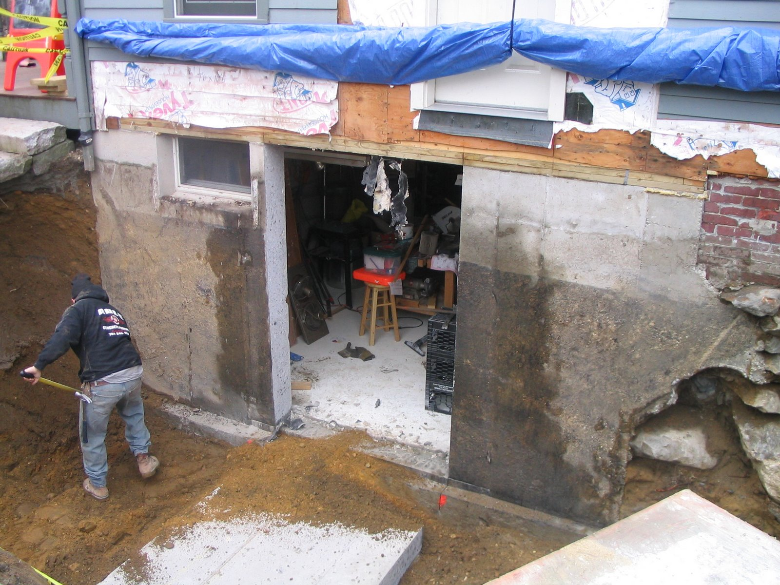 Cutting a door in a concrete foundation for Cost of poured concrete foundation walls