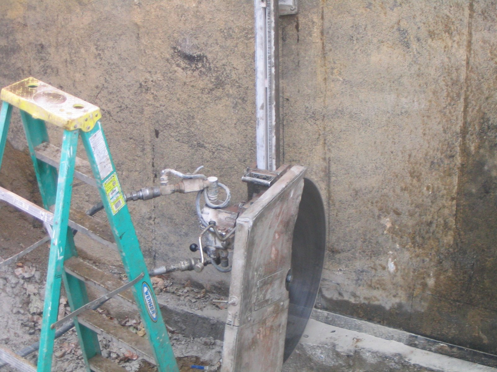 Chainsaw Cut In A Wall : Cutting a door in concrete foundation