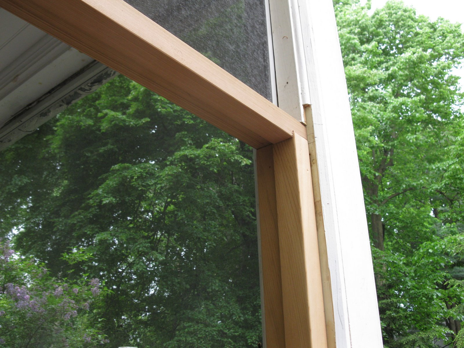 Screen porch rot repair a concord carpenter for Porch door and frame