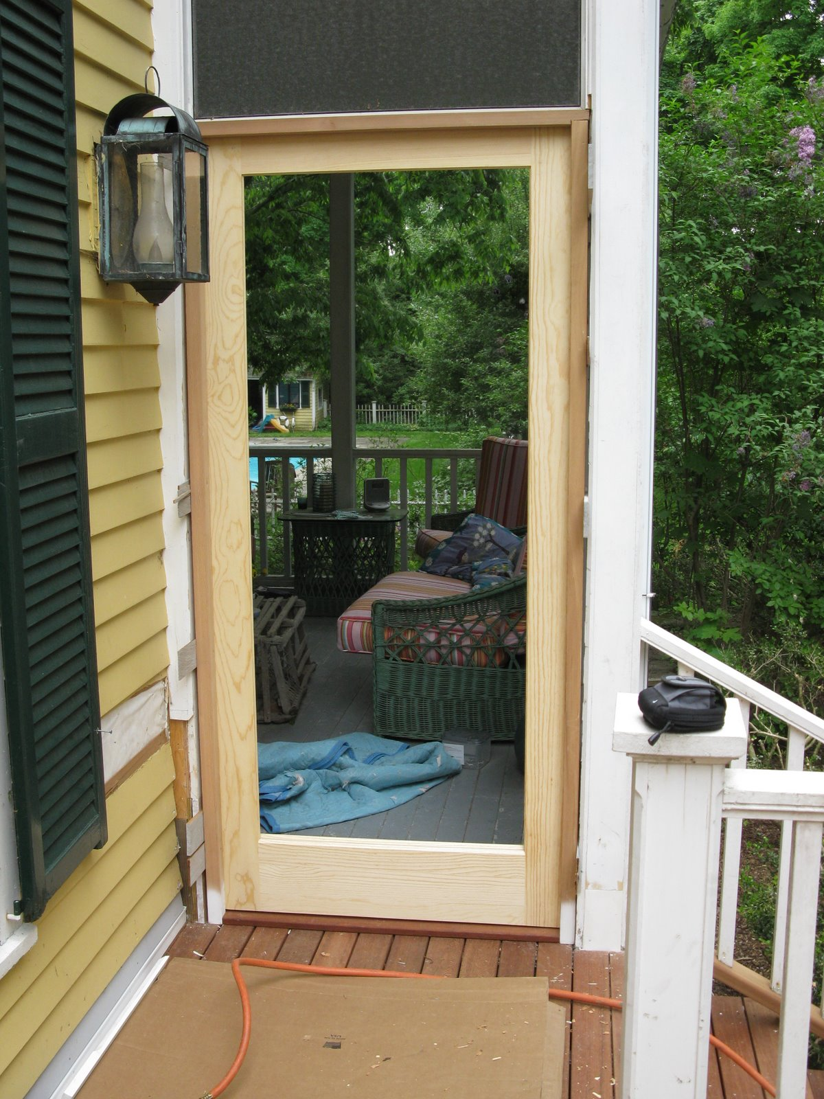 Screen porch rot repair a concord carpenter for External porch doors
