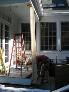 Replacing A Wood Porch Post A Concord Carpenter