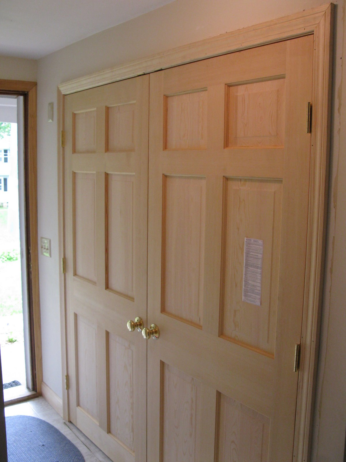 Double Closet Doors Home Decor