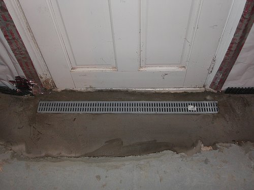 Installing a basement entry drain a concord carpenter for Basement entry