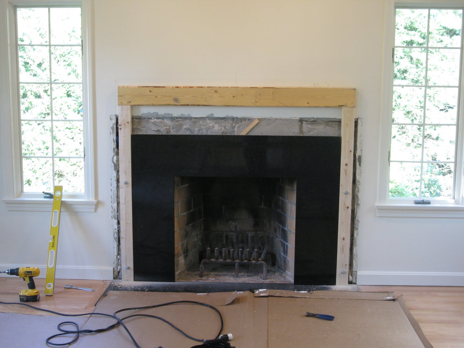 Adding a Fireplace Mantle I Installation Tips I Before and After Photos