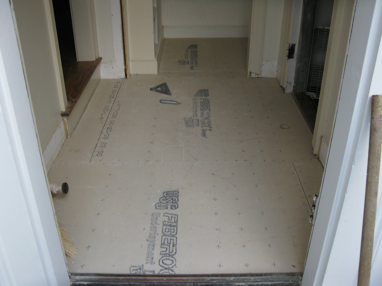 Mudroom makeover a concord carpenter tile underlayment dailygadgetfo Gallery