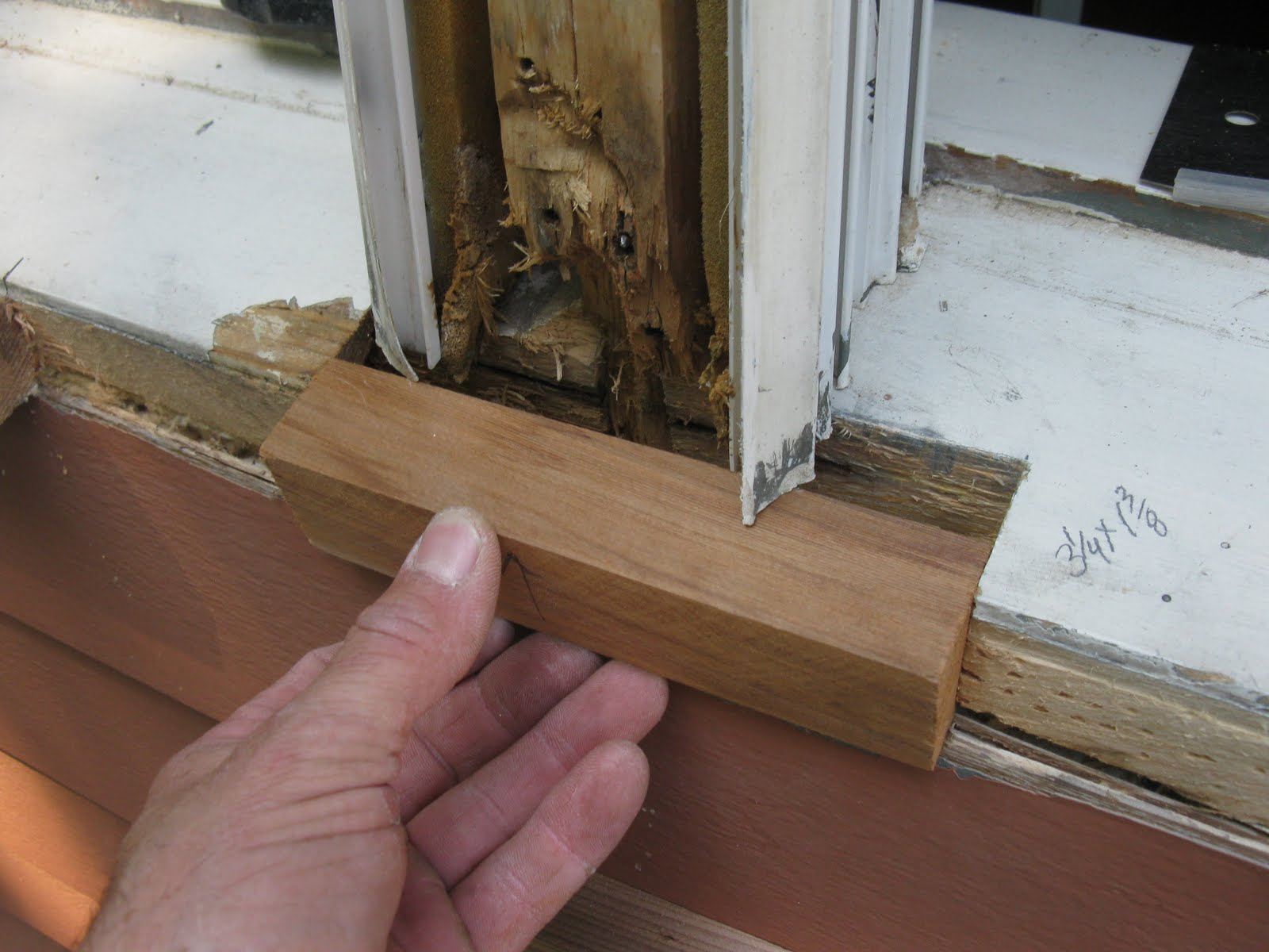 Repairing a window sill a concord carpenter How to replace an exterior window