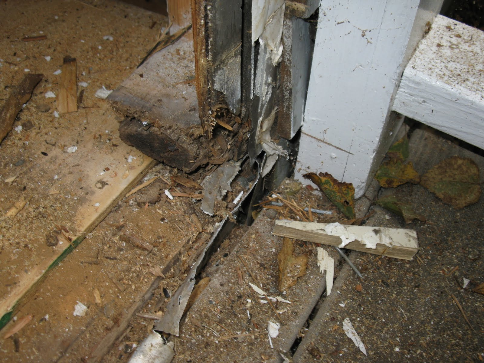 How to replace door sill rot a concord carpenter - How to replace exterior door sill ...