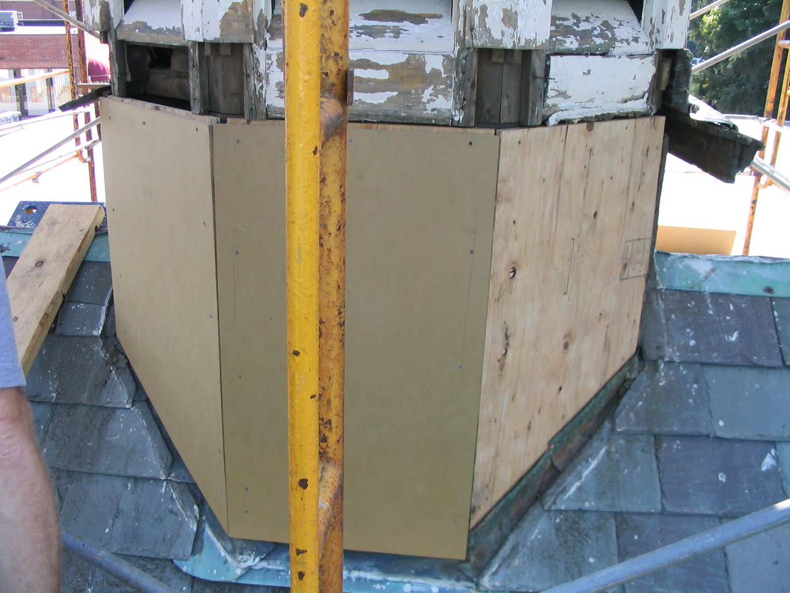 Medium Density Overlay Board ~ Repairing a cupola