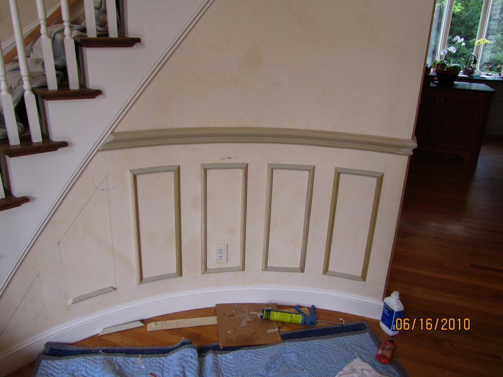 Chair Rail Installation Cost Part - 40: Installing Molding To A Curved Wall