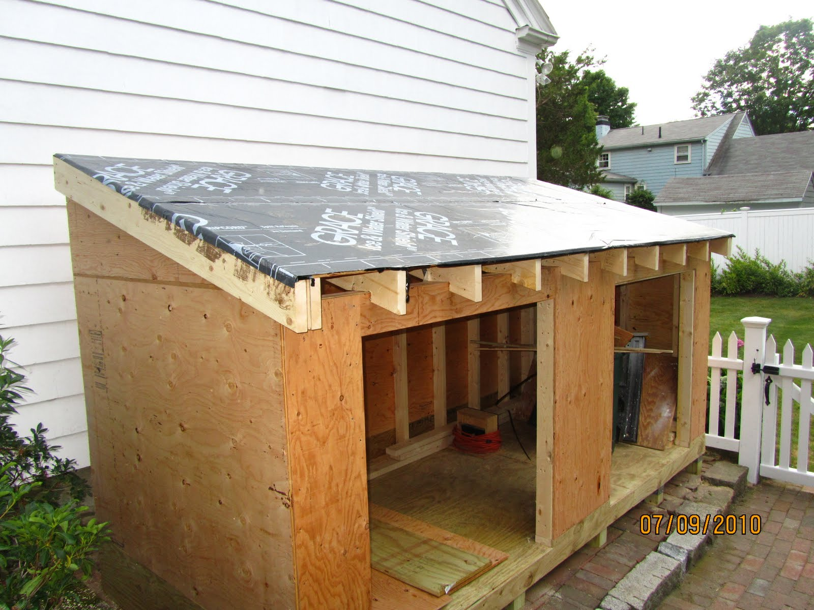 How to build a shed a concord carpenter for Building a shed style roof